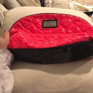 Betsy Johnson Hot Pink w/Black Trim Cosmetic Bag